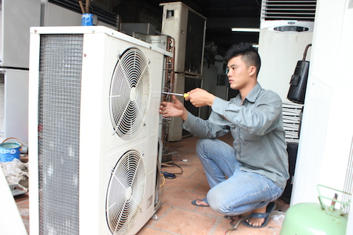 sửa chữa máy lạnh - điện lạnh Minh Triết